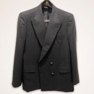 Brioni DB Blazer Black Twill Wool 50C 40S